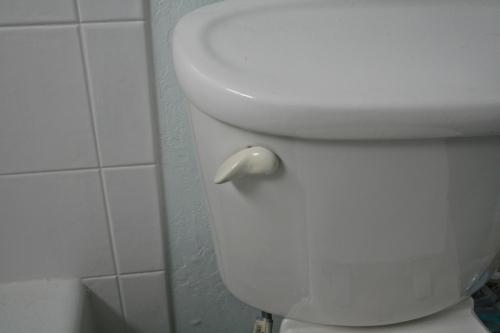 Unbroken toilet