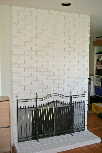 Painted fireplace 1