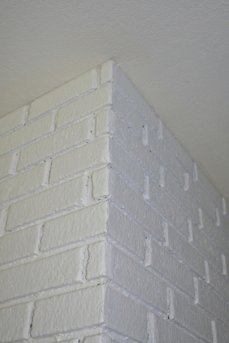 caulked fireplace cracks