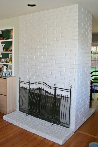 painted fireplace 2