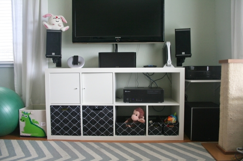 baby friendly TV console