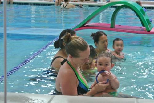 in the pool again