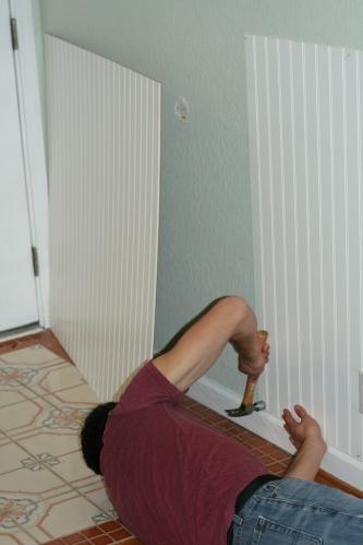 Installing beadboard