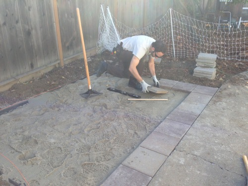 Laying pavers