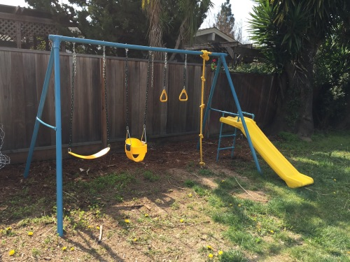 Finished Swing Set